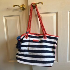 Vera Bradley beach Bag 🏝navy, white & orange❗️